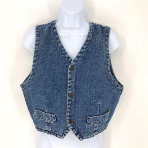Vintage Guess Jeans Blue Jeans Vest